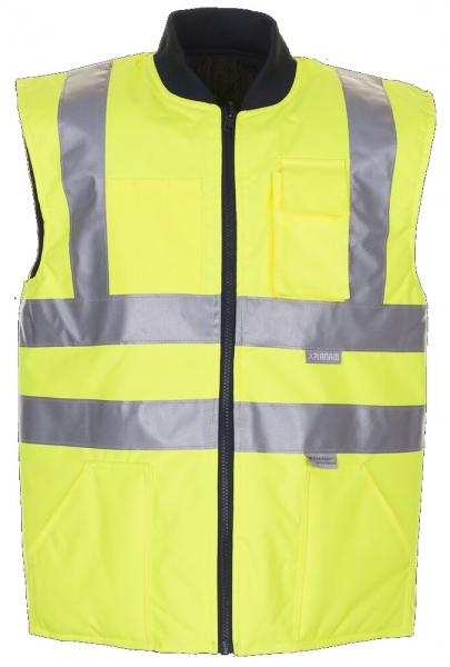 PLANAM Warn-Schutz, Arbeits-Sicherheits-Berufs-Weste, uni Wetterschutz-Bekleidung gelb