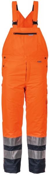 PLANAM Winter-Arbeits-Berufs-Latz-Hose kontrast, Warn-Wetter-Schutz-Bekleidung, orange