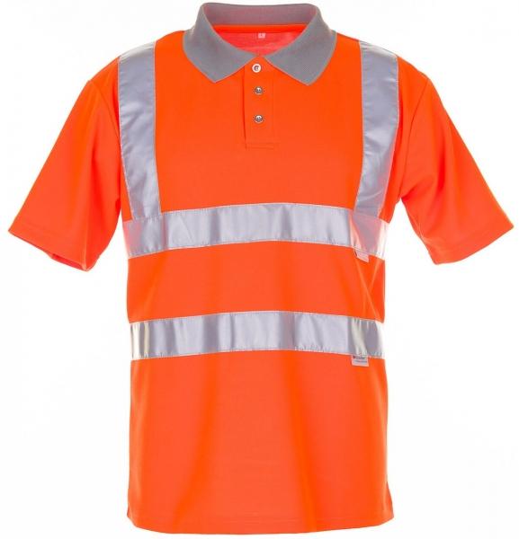 PLANAM Polo-Shirt 2-farbig Warn-Schutz-Bekleidung, orange/grau