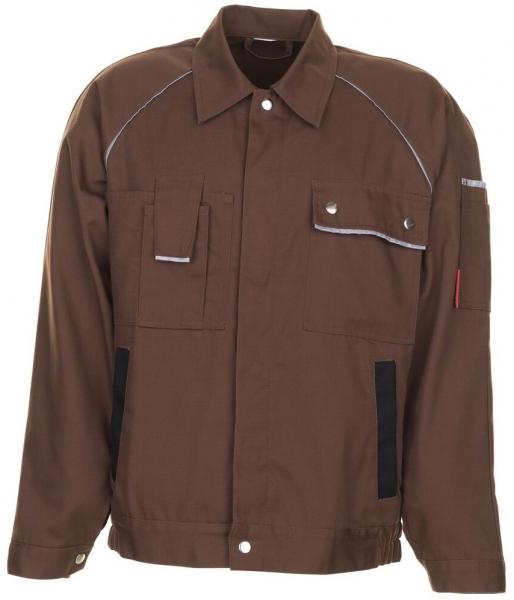 PLANAM Arbeits-Berufs-Bund-Jacke, CANVAS 320,  braun/schwarz