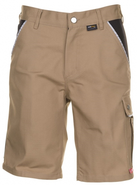 PLANAM Arbeits-Berufs-Shorts, CANVAS 320 g/m², khaki/schwarz