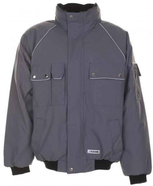 PLANAM Winter-Arbeits-Berufs-Jacke, Blouson, CANVAS 320, grau/schwarz