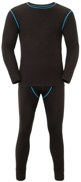 PLANAM-Funktions-Unterwäsche-Set, Hemd und Hose, 180 g/m², schwarz