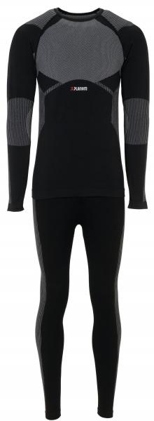 PLANAM-Funktions-Unterwäsche-Set, Hemd und Hose, Fit, schwarz
