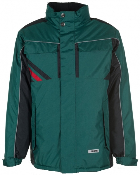 PLANAM-Winter-Wetter-Arbeits-Berufs-Jacke, Highline, grün/schwarz/rot