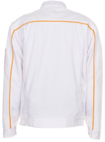 PLANAM Maler-Arbeits-Berufs-Bund-Jacke HIGHLINE, MG 285, weiß/weiß/gelb
