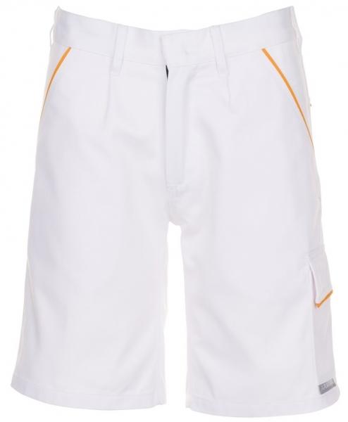 PLANAM Arbeits-Berufs-Shorts, 285 g/m², reinweiß/reinweiß/gelb