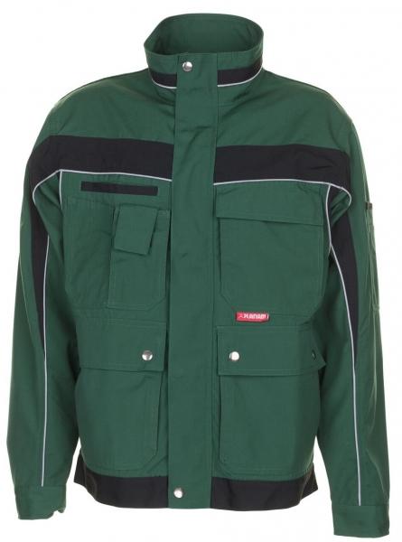 PLANAM Arbeits-Berufs-Bund-Jacke, PLALINE, MG 280, grün/schwarz