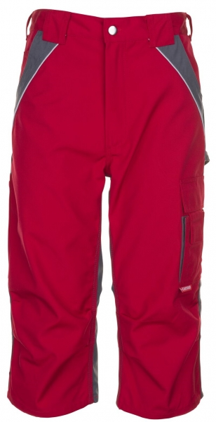 PLANAM 3/4 Hose, Arbeits-Berufs-Shorts, 280 g/m², rot/schiefer