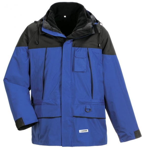 PLANAM Twister, Winter-Arbeits-Berufs-Jacke, blau/schwarz