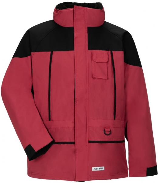 PLANAM Twister, Winter-Arbeits-Berufs-Jacke, rot/schwarz