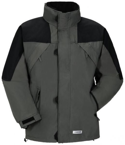 PLANAM-Winter-Wetter-Arbeits-Berufs-Jacke, Redwood, zink/schwarz