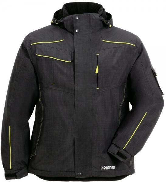 PLANAM-Winter-Wetter-Arbeits-Berufs-Jacke, Neon, grau/grün