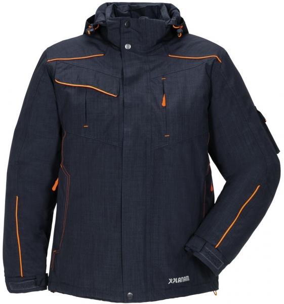 PLANAM-Winter-Wetter-Arbeits-Berufs-Jacke, Neon, marine/orange