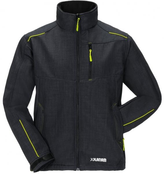 PLANAM-Winter-Softshell-Arbeits-Berufs-Jacke, Neon, grau/grün