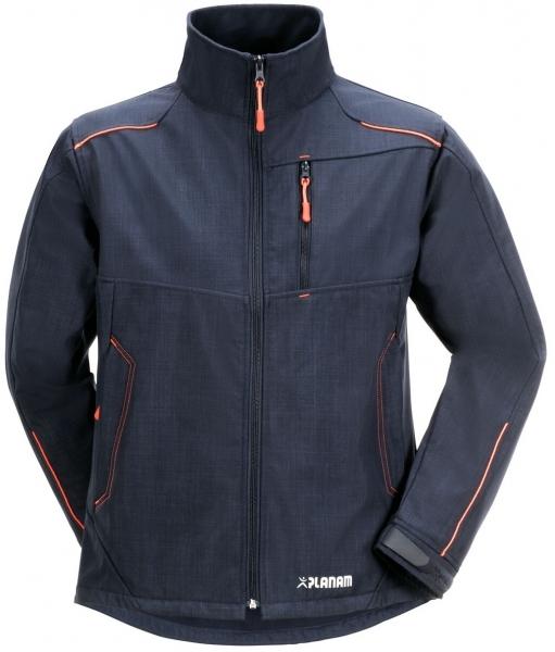 PLANAM-Winter-Softshell-Arbeits-Berufs-Jacke, Neon, marine/orange