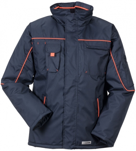 PLANAM Piper, Winter-Arbeits-Berufs-Jacke, marine/orange