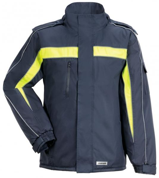 PLANAM Cosmic, Winter-Arbeits-Berufs-Jacke, marine/gelb