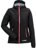PLANAM-Damen Winter-Soft Shell Arbeits-Berufs-Jacke Unit, schwarz/rot