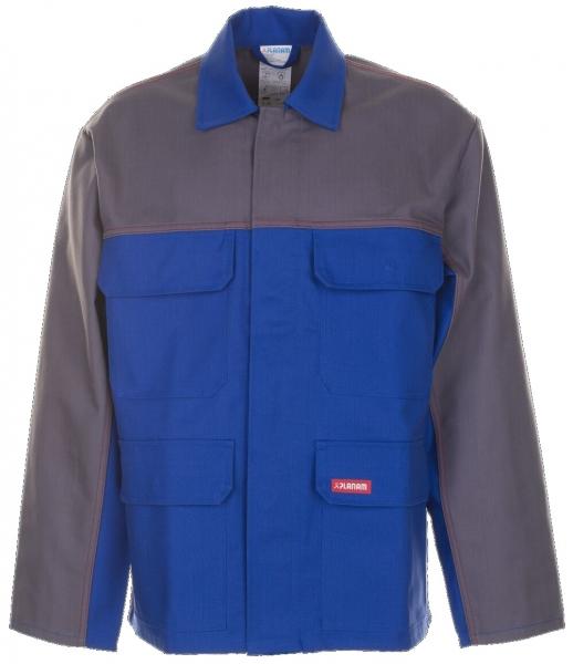 PLANAM-Schweißer-Arbeits-Schutz-Berufs-Jacke, 1-lagig, MAJOR PROTECT, kornblau/grau