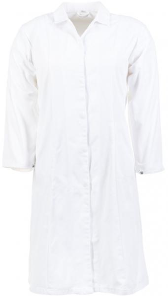 PLANAM Damen-Arbeits-Berufs-Mantel, Food-Bekleidung, HACCP-Hygiene-Bekleidung, weiß