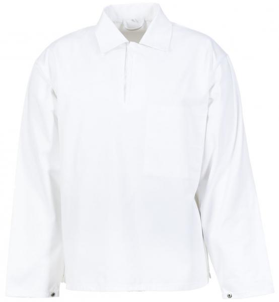 PLANAM Herren-Food-Arbeits-Berufs-Schlupf-Hemd, HACCP-Bekleidung, weiß