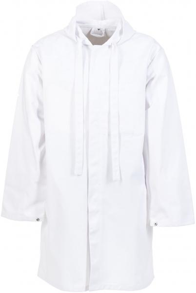 PLANAM Fleischträger-Arbeits-Berufs-Mantel, Food-Bekleidung, HACCP-Hygiene-Bekleidung,  weiß