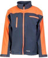 PLANAM-Forst-Arbeits-Schutz-Berufs-Schnittschutz-Softshell Jacke, grau/orange