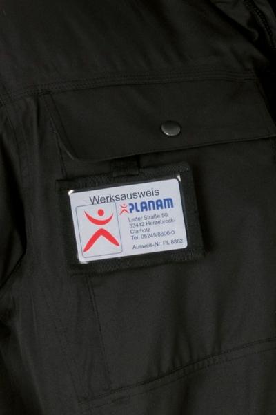 PLANAM-Ausweistasche für Secu Winter-Parka, Outdoor, schwarz