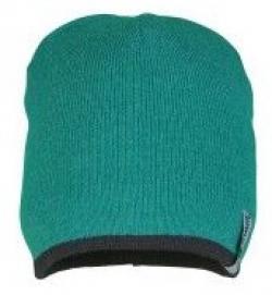 PLANAM Winter-Strick-Mütze, grün/schwarz