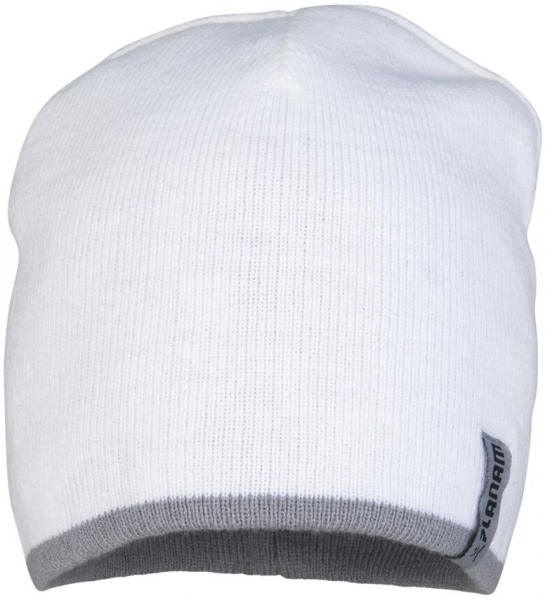 PLANAM Winter-Strick-Mütze, weiß/zink