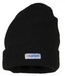 PLANAM Thinsulate-Winter-Mütze, mit Umschlag, schwarz