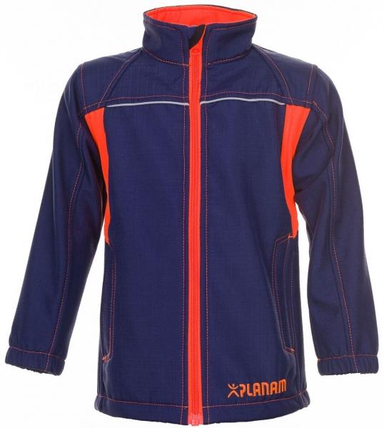 PLANAM-Junior Softshell-Arbeits-Berufs-Jacke, marine/orange