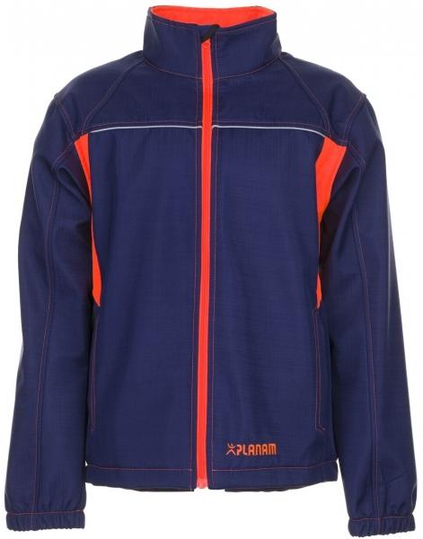PLANAM-Softshell-Arbeits-Berufs-Jacke, Basalt Neon, marine/orange