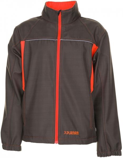 PLANAM-Softshell-Arbeits-Berufs-Jacke, Basalt Neon, oliv/orange