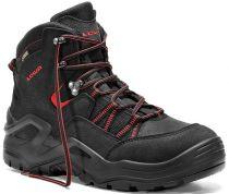 ELTEN-LOWA-S3-Schnürstiefel, Sicherheits-Arbeits-Berufs-Schuhe, Hochschuhe, BOREAS WORK GTX MID, schwarz/rot
