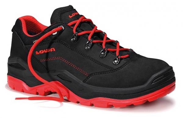 ELTEN-LOWA-S3-Sicherheitsschuhe, RENEGADE WORK GTX red Low, schwarz/rot