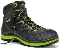 ELTEN-LOWA-S3-Schnürstiefel, Sicherheits-Arbeits-Berufs-Schuhe, Hochschuhe, INNOX WORK GTX LIME MID, schwarz/limette