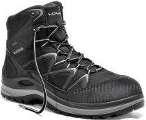 ELTEN-LOWA-S3-Schnürstiefel, Sicherheits-Arbeits-Berufs-Schuhe, Hochschuhe, INNOX WORK GTX GREY MID, schwarz/grau