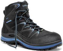ELTEN-LOWA-S3-Schnürstiefel, Sicherheits-Arbeits-Berufs-Schuhe, Hochschuhe, INNOX WORK GTX BLUE MID, schwarz/blau