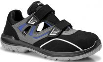 ELTEN-S1-Sicherheits-Arbeits-Berufs-Sandalen, mit Klettverschluss, LASSE EASY ESD, schwarz/grau
