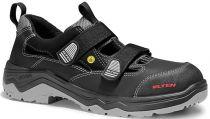 ELTEN-S1P-Sicherheits-Arbeits-Berufs-Sandalen, mit Klettverschluss, LASLO ESD, schwarz