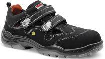 ELTEN-S1-Sicherheits-Arbeits-Berufs-Sandalen, mit Klettverschluss, SCOTT ESD, schwarz