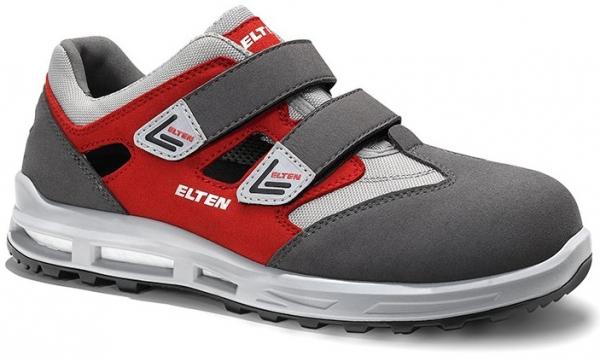 ELTEN-S1-WELLMAXX-Sicherheitssandale, TRAVIS Esay, ESD, grau-rot