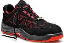 ELTEN-S1-Sicherheits-Arbeits-Berufs-Schuhe, Halbschuhe, GRANT RED LOW ESD, Fußtyp 1, breite Fußweite, schwarz/rot