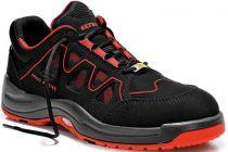 ELTEN-S1-Sicherheits-Arbeits-Berufs-Schuhe, Halbschuhe, GRANT RED LOW ESD, Fußtyp 2, normale Fußweite, schwarz/rot