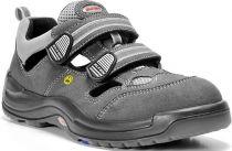 ELTEN-S1-Sicherheits-Arbeits-Berufs-Sandalen, ADAM ESD, Fußtyp 1, breite Füße, grau