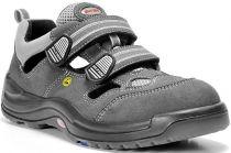 ELTEN-S1-Sicherheits-Arbeits-Berufs-Sandalen, ADAM ESD, Fußtyp 2, normale Fußweite, grau