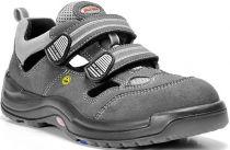 ELTEN-S1-Sicherheits-Arbeits-Berufs-Sandalen, ADAM ESD, Fußtyp 3, schmale Fußweite, grau