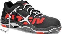 ELTEN-S2-Sicherheits-Arbeits-Berufs-Schuhe, Halbschuhe, TRIBUTE BLACK LOW ESD, schwarz/rot